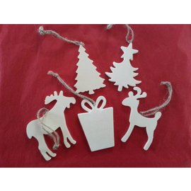 Objekten zum Dekorieren / objects for decorating 5 différents thèmes de Noël en bois