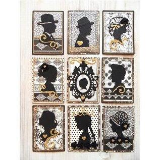 Marianne Design Creatables - Silhouette pige med hår op og med flettet hår, 2 piger