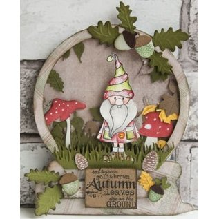 Marianne Design Stempling og prægning stencil, Le Suh, svampe