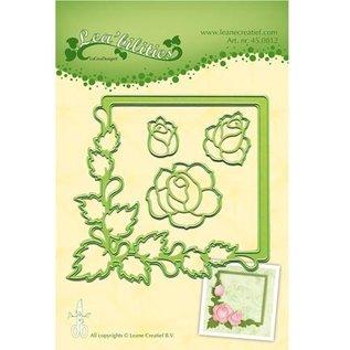Leane Creatief - Lea'bilities Stempelen en embossing stencil, frame met rozen