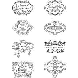 Marianne Design Timbres claires, des motifs de Noël Labels textes NL