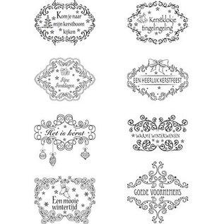 Marianne Design Klare Frimærker, julemotiver Labels NL tekster