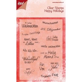 Joy!Crafts / Hobby Solutions Dies Timbri trasparenti, testi in tedesco di Natale,