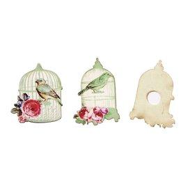 Embellishments / Verzierungen Versiering, Birdcage 4,5-5cm, houten