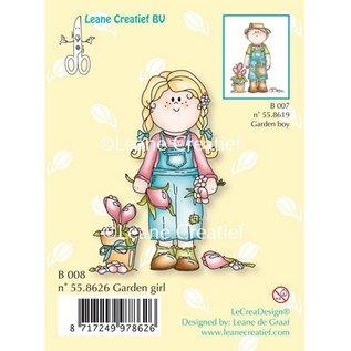 Leane Creatief - Lea'bilities Transparent stamp, Garden girl