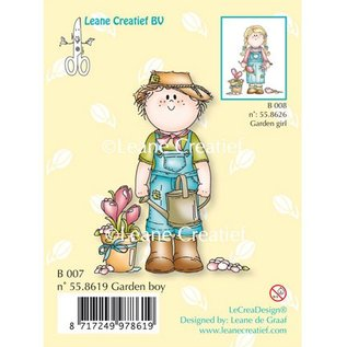 Leane Creatief - Lea'bilities Transparenter Stempel, Garden boy