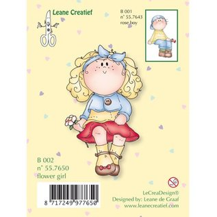Leane Creatief - Lea'bilities Transparenter Stempel, flower girl