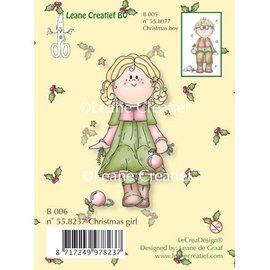 Leane Creatief - Lea'bilities Gennemsigtige frimærker, jul pige