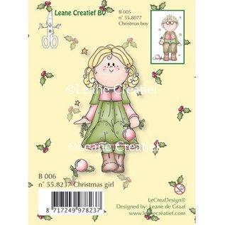Leane Creatief - Lea'bilities Transparante stempels, Kerst meisje