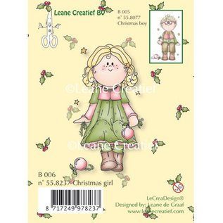 Leane Creatief - Lea'bilities Transparenter Stempel, Christmas girl