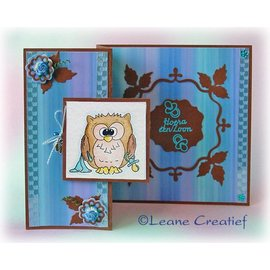 Leane Creatief - Lea'bilities Tampons transparents, peu Tweetke hibou