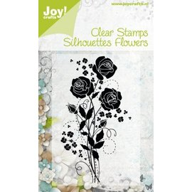 Transparent stamps Silhouettes Flower, Rose