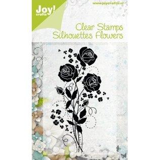 Gennemsigtige frimærker Silhuetter Blomst, Rose