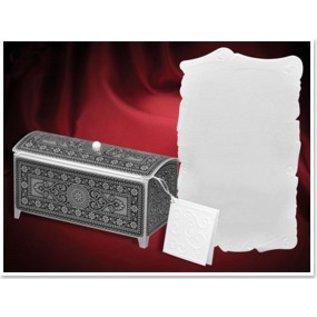 BASTELSETS / CRAFT KITS jeu de Craft pour 3 coffre au trésor, argent-noir, 140 x 60 x 70mm