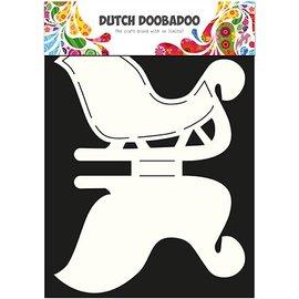 Dutch DooBaDoo Schablone um eine 3D Schlitten zu gestalten