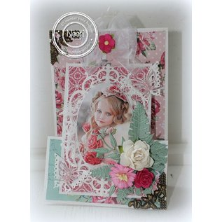 Joy!Crafts / Hobby Solutions Dies Stanz- und Prägeschablone, Rahmen Oval mit Blüte