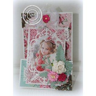 Joy!Crafts / Jeanine´s Art, Hobby Solutions Dies /  Stempling og Embossing stencil, indramme oval blomst
