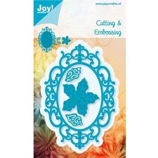 Joy!Crafts / Hobby Solutions Dies Stampen en Embossing stencil, het frame ovale bloem