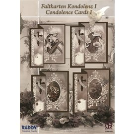BASTELSETS / CRAFT KITS Folding kondolence til 4 kort + kuverter