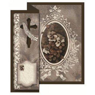 BASTELSETS / CRAFT KITS Condoglianze pieghevole per 4 carte + buste