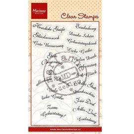 Marianne Design Clear Stamps, 14 ønsker på tysk