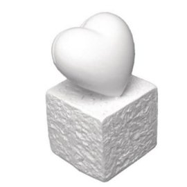 BASTELZUBEHÖR, WERKZEUG UND AUFBEWAHRUNG Polyresin Card Holder: Heart, 5,5 cm