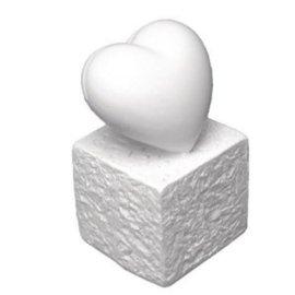 BASTELZUBEHÖR, WERKZEUG UND AUFBEWAHRUNG Titular de cartão de Polyresin: Coração, 5,5 centímetros
