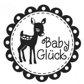 Stempel / Stamp: Holz / Wood Holzstempel, deutscher Text, Thema: Baby