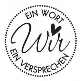 Stempel / Stamp: Holz / Wood Holzstempel, deutscher Text, Thema: Hochzeit