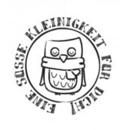 """Stempel / Stamp: Holz / Wood Holzstempel, texto em alemão, """"Uma coisa pequeno doce para você!"""""""