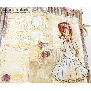 Prima Marketing und Petaloo Fabrics flowers by Prima Marketing, 4 pieces, Victorian