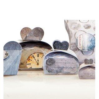 """Dekoration Schachtel Gestalten / Boxe ... Artisanat réglé pour 14 paquets + Etiquettes """"industrielle"""""""