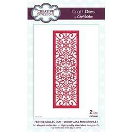 CREATIVE EXPRESSIONS und COUTURE CREATIONS Punching and embossing stencil The Festive Collection - Snowflake Mini Striplet