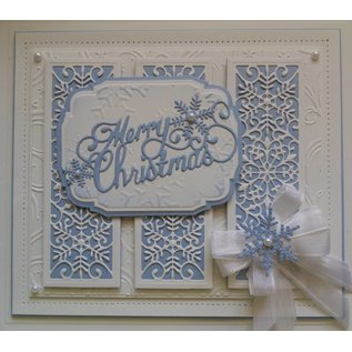 CREATIVE EXPRESSIONS und COUTURE CREATIONS Stansning og prægning stencil The Festive Collection - Snowflake Mini Striplet