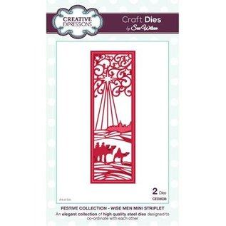 CREATIVE EXPRESSIONS und COUTURE CREATIONS Poinçonnage et de Pochoir gaufrage La collection Festive - Sages Mini bandelette