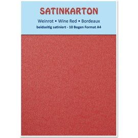 DESIGNER BLÖCKE / DESIGNER PAPER Satin cardboard A4, double-sided satin 250gr with embossing. / Sqm, Maroon