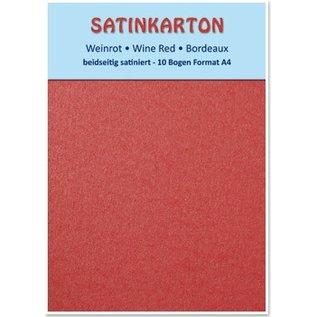 DESIGNER BLÖCKE / DESIGNER PAPER Satin pap A4, dobbeltsidet satin 250gr med prægning. / Kvm, Maroon
