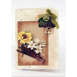 Embellishments / Verzierungen Die cut ark med haven tilbehør fra karton, A4