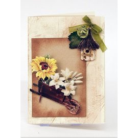 Embellishments / Verzierungen Die folhas soltas com acessórios para jardim de estoque do cartão, A4