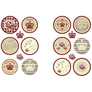 Embellishments / Verzierungen Self motiv klistermærker med en mat overflade