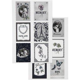 Embellishments / Verzierungen Self motifs autocollants avec une surface mate