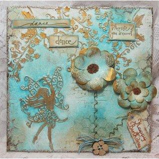 Tattered Lace Presning og stansning skabelon, Tattered Lace, Punch skabelon Elfe størrelse ca 69 x 118 mm