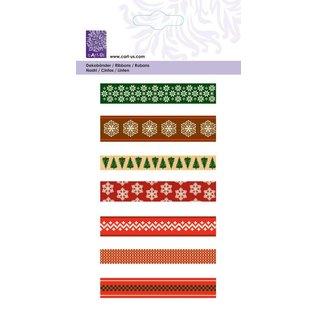"""Cart-Us Schleifenband-Set """"Christmas Scandinavian"""", 7x1meter"""