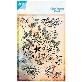 Gennemsigtige frimærker, blomster og blade
