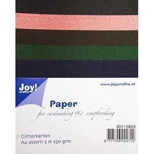 DESIGNER BLÖCKE / DESIGNER PAPER A4 Glitter carton