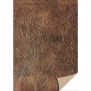DESIGNER BLÖCKE / DESIGNER PAPER 5 feuilles cartonné cuir, brun foncé
