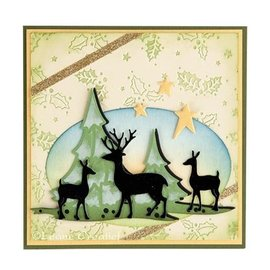 Leane Creatief - Lea'bilities Punching and embossing template Lea'bilitie, reindeer