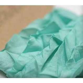 DEKOBAND / RIBBONS / RUBANS ... Aquamarine Shabby 10mm Ruban 1m