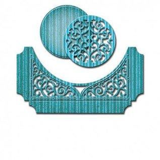 Spellbinders und Rayher Spellbinders, stansning og prægning skabelon, Papir Grace, Swirl Bliss Pocket