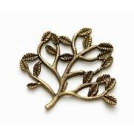 Embellishments / Verzierungen 5 Metal Charms Set Small Twig 30x22 mm